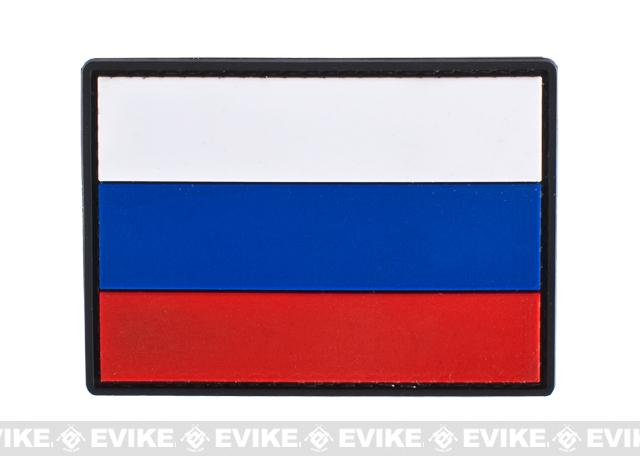 Russia Flag PVC Hook and Loop Patch