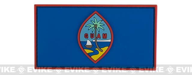 PVC Hook and Loop International Flag Patch (Flag: Guam)