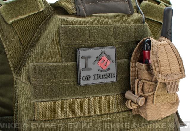 Evike I Heart Op Irene PVC Hook and Loop Morale Patch
