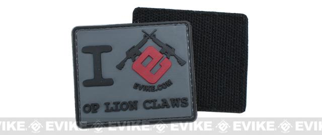 Evike I Heart Op Lion Claws PVC Hook and Loop Morale Patch