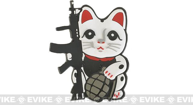 Tactical Money Cat Lucky Cat PVC Hook and Loop Morale Patch - M4