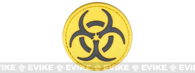 PVC Morale IFF Hook and Loop Patch - Biohazard / Yellow