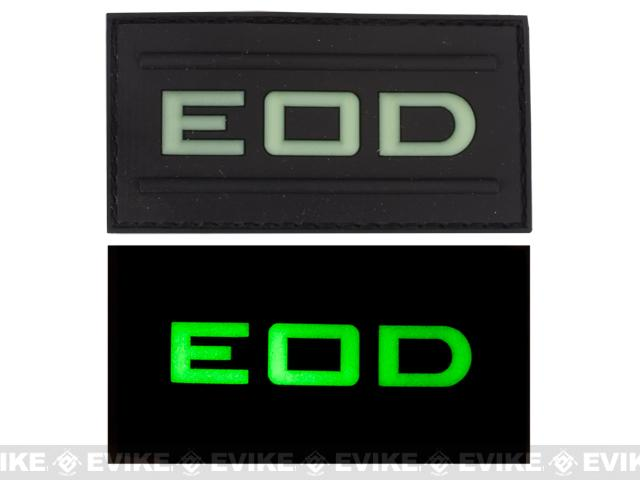 EOD Glow in the Dark PVC Velcro Patch - Black