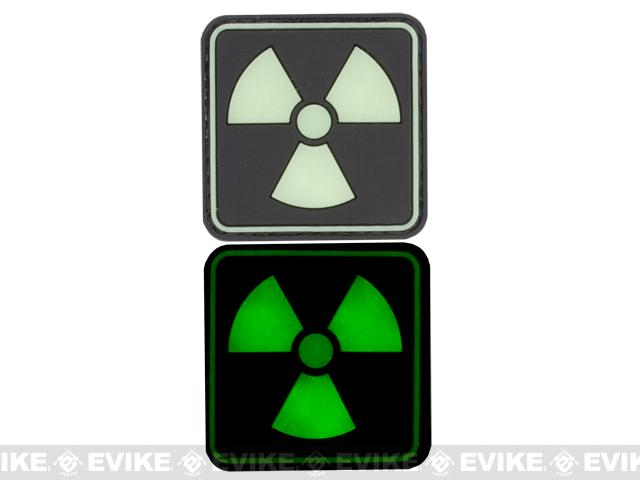 Atomic 20mm Glow in the Dark PVC Velcro IFF Patch - Black