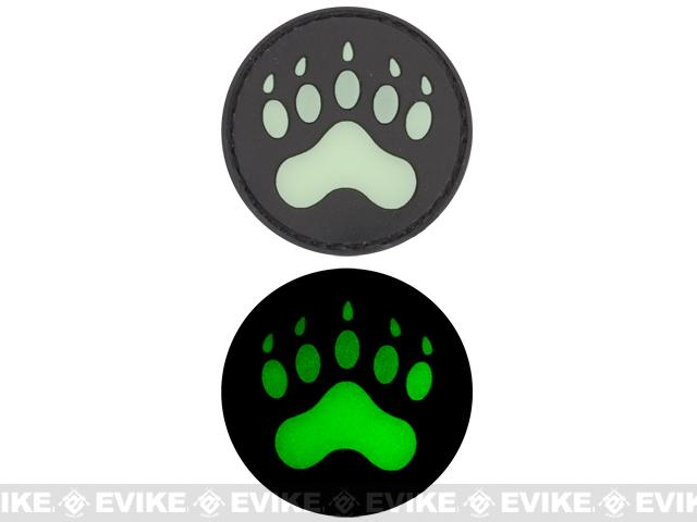 Glow in the Dark PVC IFF Hook and Loop Patch - Bear / Lion Claw