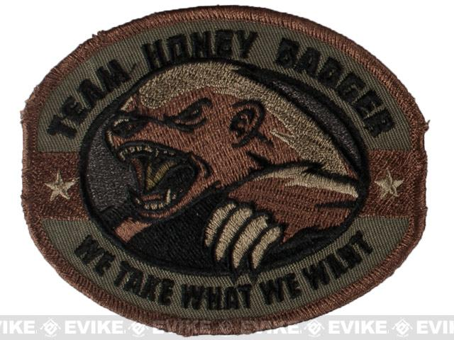Mil-Spec Monkey Honey Badger Embroidered Patch - Forest