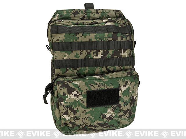 Pro-Arms Plate Carrier Back Bag - Digital Woodland