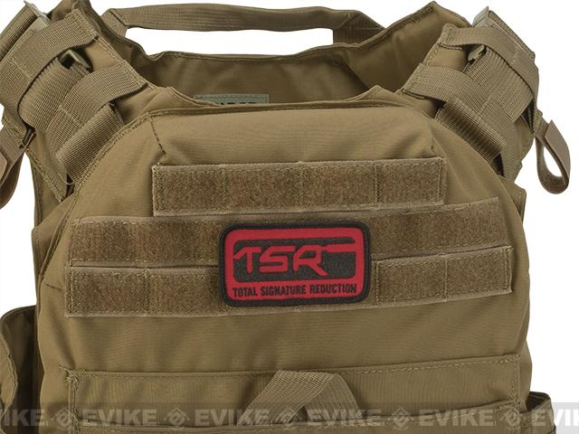 SureFire® Embroidered TSR Logo Velcro® Patch - Red / Black