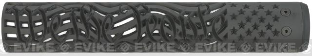 Unique-ARs We The People 12 CNC Hand guard for M4 & M16 AEG / GBBR / Real AR-15 Rifles � Black