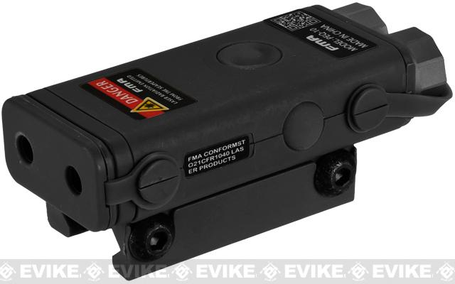 PEQ10 Compact Airsoft LED Illuminator / Laser Combo by Bravo FMA - Black