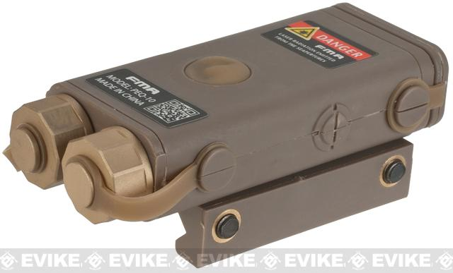 PEQ-10 Compact Airsoft LED Illuminator / Laser Combo by Bravo FMA - Dark Earth