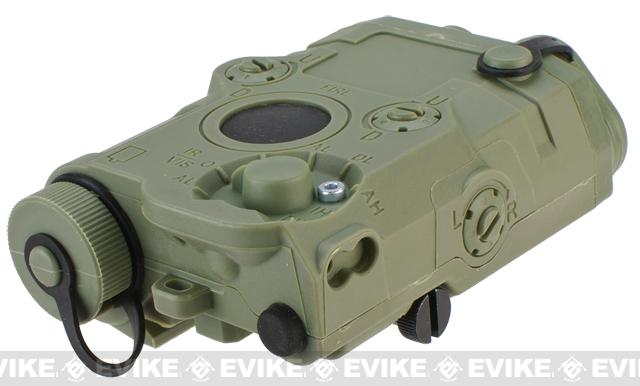 Matrix Airsoft PEQ-15 Battery Box w/ Laser System - Red Laser / OD Green