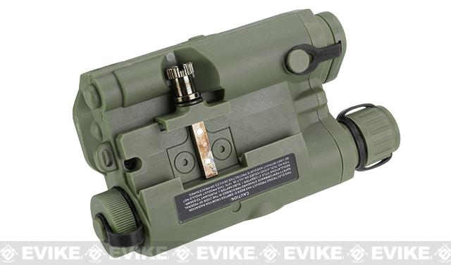 Matrix PEQ-15 Weaver / Picatinny Mount Battery Housing Box - OD Green