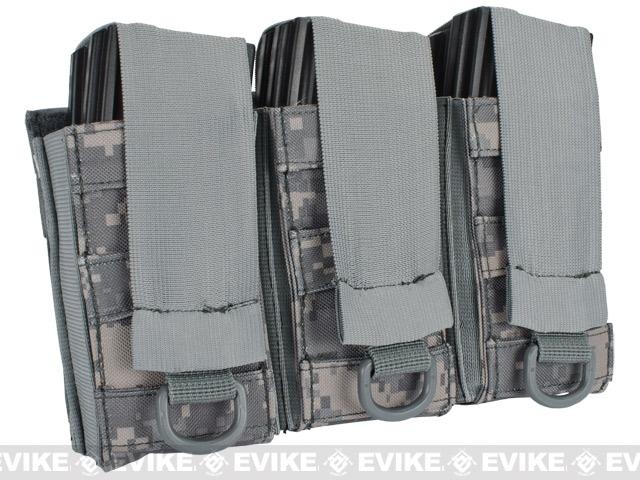 Black Owl Gear / Phantom Aggressor MOLLE Ready M4 AK MP5 Magazine Pouch - Triple (Color: ACU)