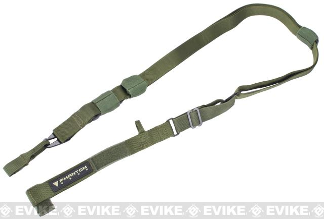 Phantom Military Grade Tactical Assault Rifle Universal Three Point Sling - OD Green