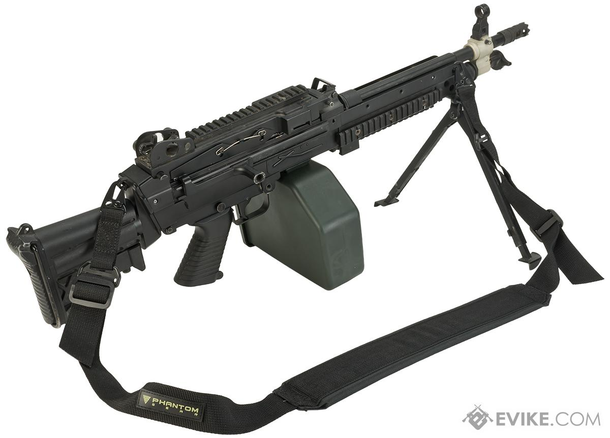 Phantom M60 / M249 Type Heavy Machine Gun Shoulder Sling (Color: Black)