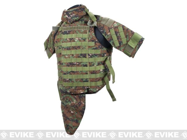 Phantom Interceptor Modular OTV Body Armor / Vest - Medium (Digital Woodland Marpat)