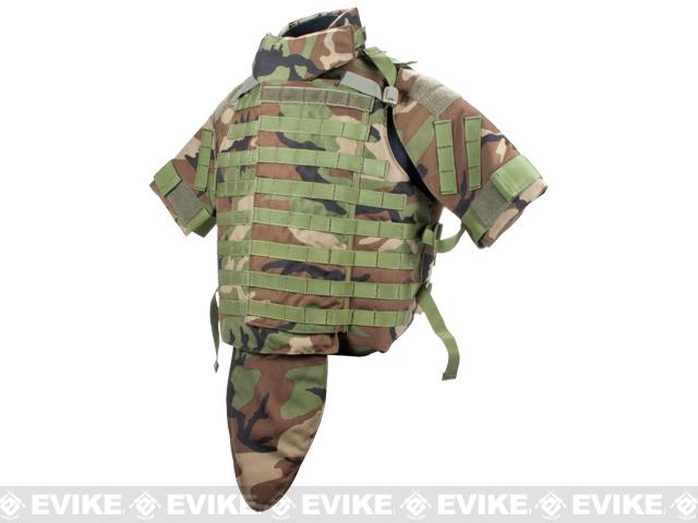 Phantom Interceptor Modular OTV Body Armor / Vest - Medium (Woodland Camo)