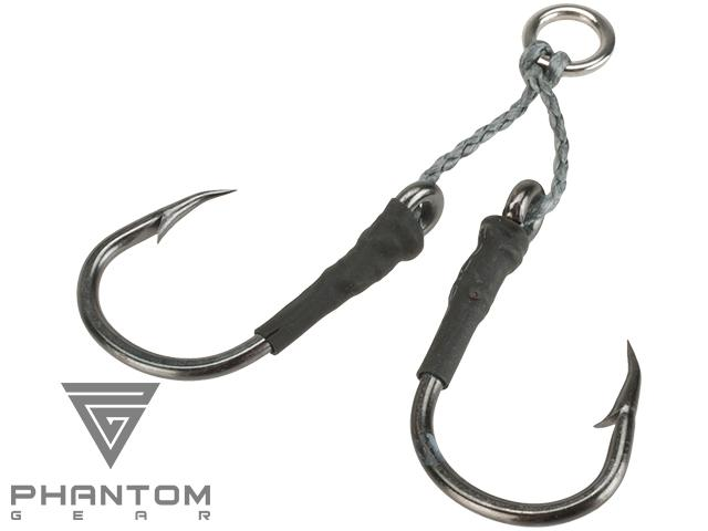 Phantom Gear Dancing Short Stinger Jigging Double-Hook Set - Pack of 2 (Size: 5/0)