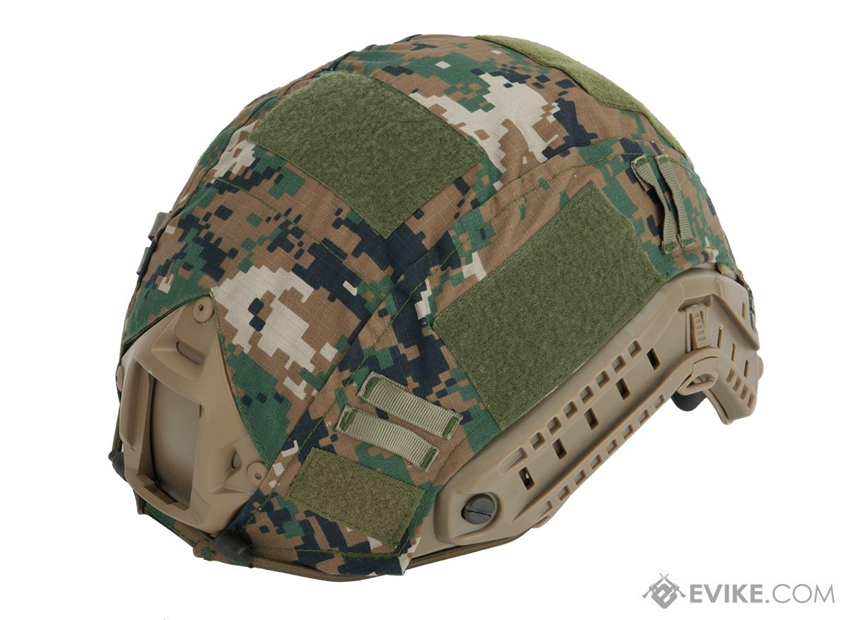 Tactical Helmet Cover for PJ and MH Type Airsoft Helmet - Digital Woodland