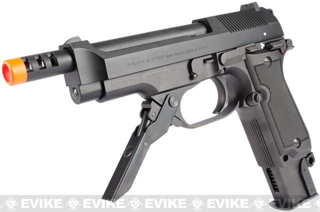 KWA M93R NS2 Full Metal Airsoft GBB Limited Edition Bundle + Metal Folding Stock + 2 Mags