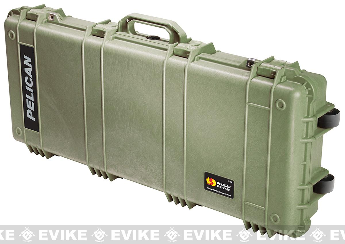 Pelican™ 1700 WL/WF Long Rifle Case w/ Wheels - OD Green