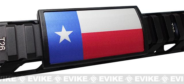 Custom Gun Rails (CGR) Large  Aluminum Rail Cover - Texas  State Flag