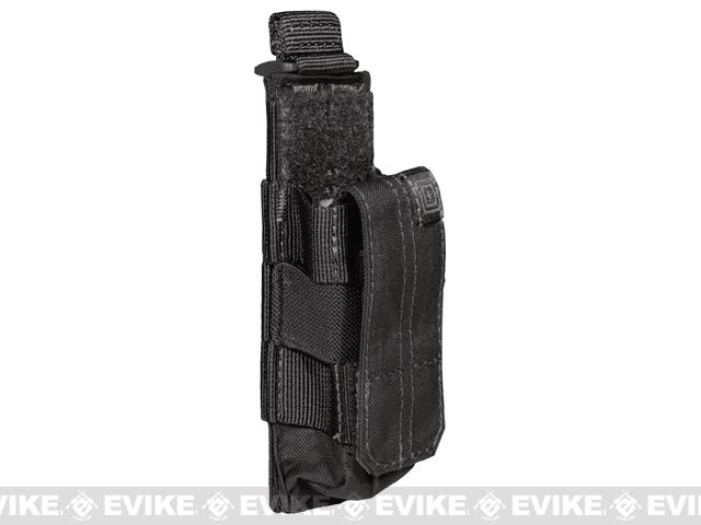5.11 Tactical Single Pistol Bungee Cover Magazine Pouch - Black
