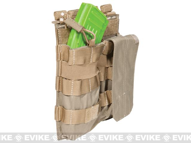 5.11 Tactical AK Double Bungee Cover Magazine Pouch - Sandstone