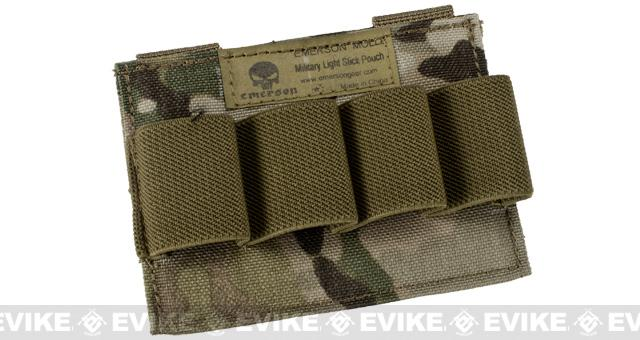 Matrix MOLLE Glow Stick Pouch - Land Camo