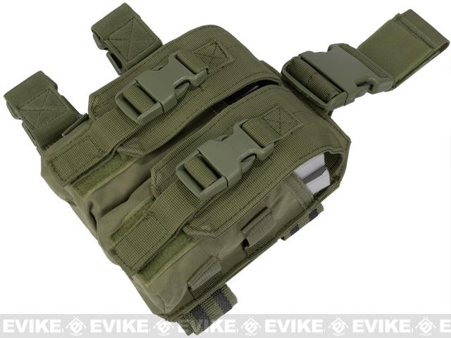 Condor Tactical Drop Leg M4 Magazine Pouch - OD Green