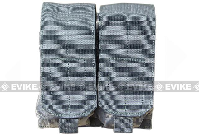 Modular MOLLE Ready Tactical Double M4 M16 Magazine Pouch - ACU