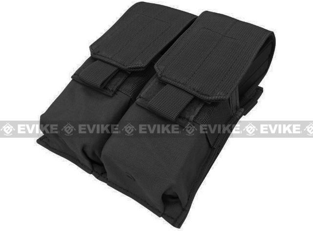 Modular MOLLE Ready Tactical Double M4 M16 Magazine Pouch - Black