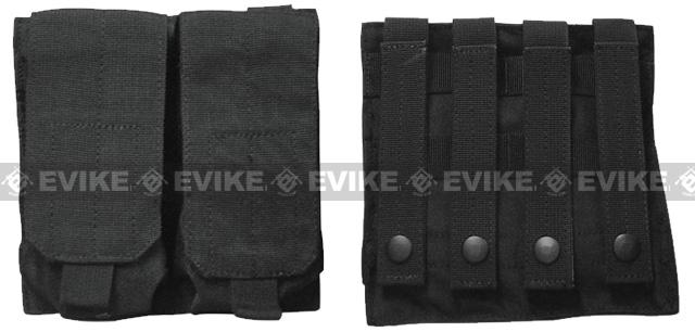 Phantom Gear Modular MOLLE Ready Tactical Double M4 M16 Magazine Pouch - Black