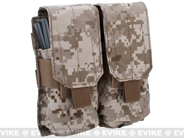 Modular MOLLE Ready Tactical Double M4 M16 Magazine Pouch - Digital Desert