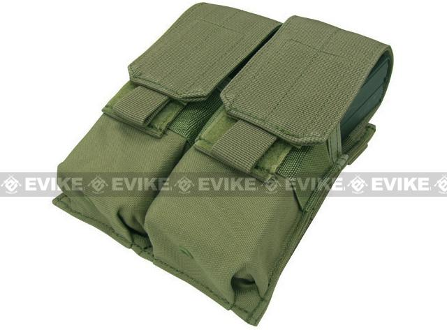 Modular MOLLE Ready Tactical Double M4 M16 Magazine Pouch - OD Green