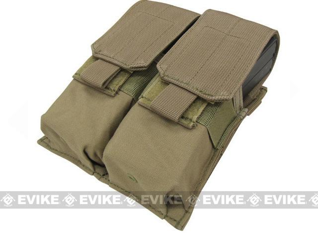 Modular MOLLE Ready Tactical Double M4 M16 Magazine Pouch - Tan