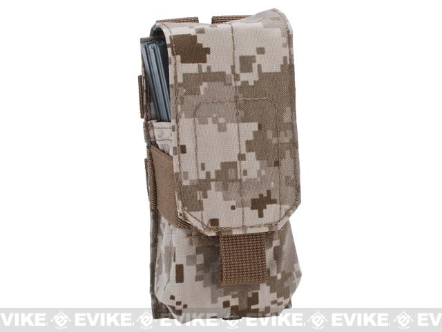 Tactical MOLLE Ready Single M4 M16 Magazine Pouch by Phantom Gear - Digital Desert