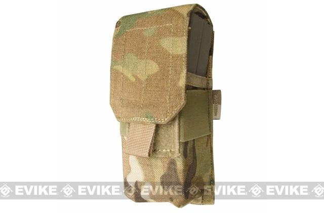 Tactical MOLLE Ready Single M4 Tactical Magazine Pouch by Phantom Gear - Multicam