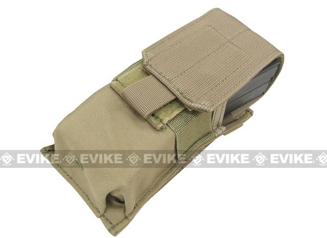 Tactical MOLLE Ready Tactical M4 M16 Magazine Pouch by Phantom Gear - Tan