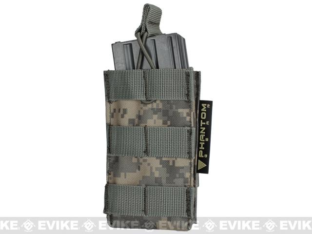 Phantom Single M4/M16 Open Top MOLLE System Ready Mag Pouch - ACU