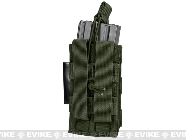 Single M4/M16 Open Top MOLLE System Ready Mag Pouch - OD Green