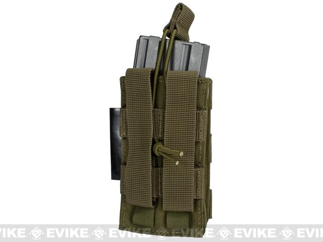Single M4/M16 Open Top MOLLE System Ready Mag Pouch - Tan