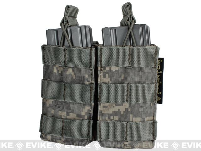 Phantom MOLLE Pouches - Tactical Open Top Dual AR / M4 / M16 Mag Pouch - ACU Camo
