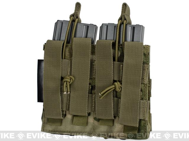 Phantom MOLLE Pouches - Tactical Open Top Dual AR / M4 / M16 Mag Pouch - Multicam