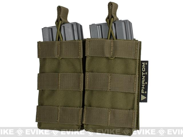 Phantom MOLLE Pouches - Tactical Open Top Dual AR / M4 / M16 Mag Pouch - Tan