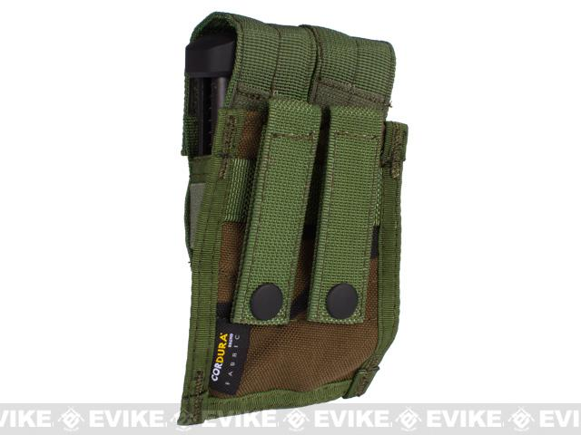 Tactical MOLLE Double Pistol Magazine Pouch by Phantom Gear - Woodland