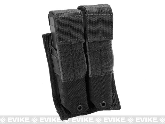 Tactical MOLLE Double Pistol Magazine Pouch by Phantom Gear - Black