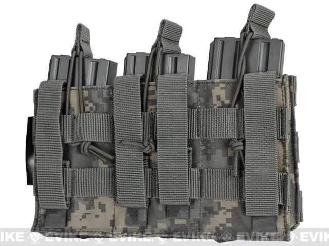 Phantom MOLLE Pouches - Tactical Open Top Triple AR / M4 / M16 Mag Pouch - ACU
