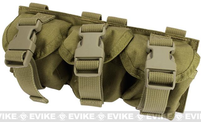 Phantom Gear Triple Frag Grenade MOLLE Ready Pouch - Tan